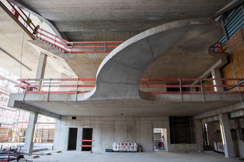 Mainfranken Theater Würzburg – Rohbau für Erweiterungstrakt termingerecht fertiggestellt