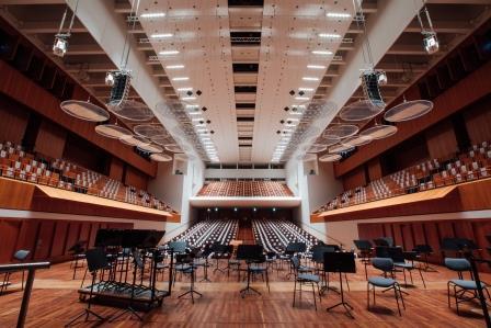 Beleuchtung im Konzerthaus Freiburg auf LED-Technik umgerüstet